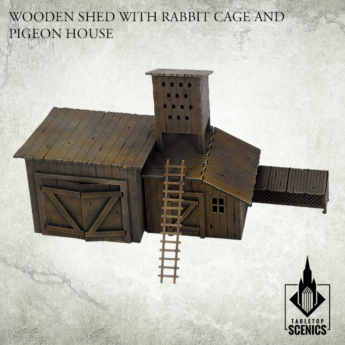 WOODEN SHED WITH RABBIT CAGE AND PIGEON HOUSE_1.jpg